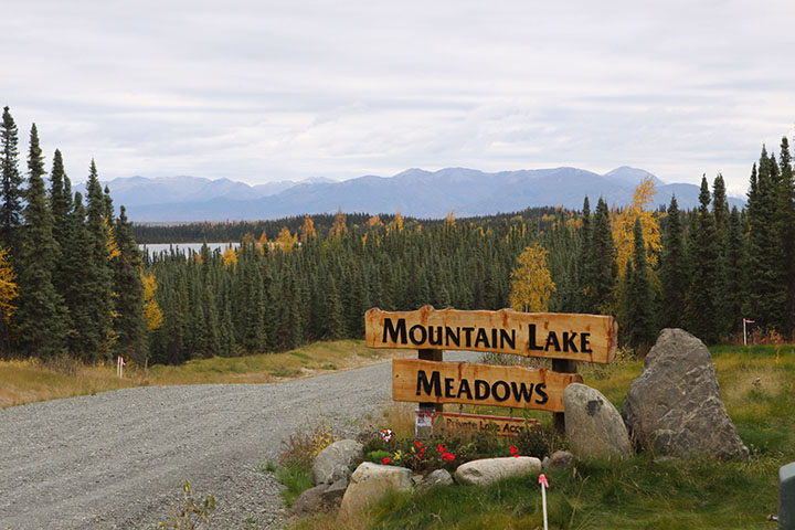 Mountain Lake Meadows entrance sign